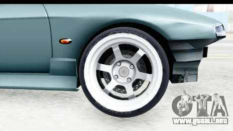 Nissan Silvia S14 Low and Slow para GTA San Andreas vista hacia atrás