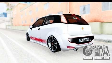 Fiat Punto Abarth para la visión correcta GTA San Andreas