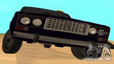 VAZ-2106 a GVR primera versión para GTA San Andreas vista hacia atrás