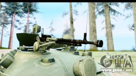 T-62 Wood Camo v1 para GTA San Andreas vista hacia atrás