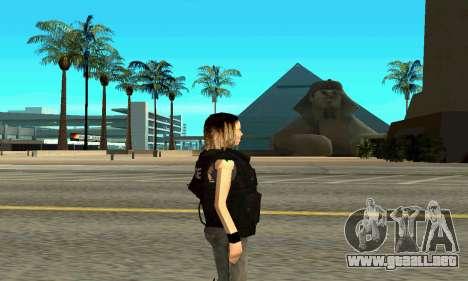 Hembra entrenador de SWAT para GTA San Andreas segunda pantalla