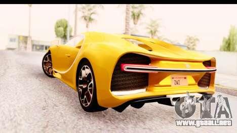 Bugatti Chiron 2017 v2.0 Updated para GTA San Andreas left