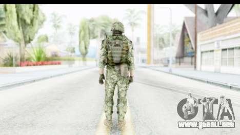 Croatian Soldier para GTA San Andreas tercera pantalla