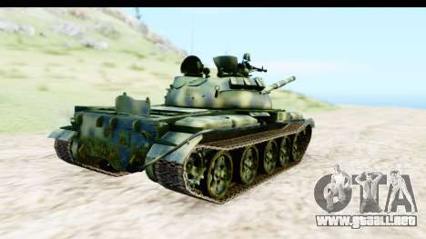 T-62 Wood Camo v3 para GTA San Andreas vista posterior izquierda
