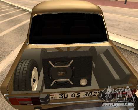 VAZ 2106 Armenian para GTA San Andreas left