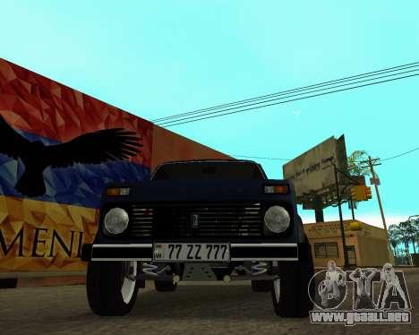 Niva 2121 Armenian para GTA San Andreas interior