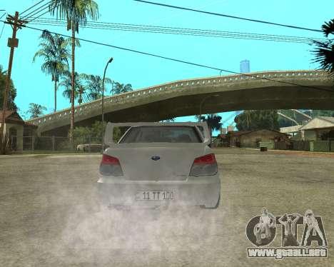 Subaru Impreza Armenian para el motor de GTA San Andreas