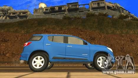 Chevrolet TrailBlazer 2015 LTZ para GTA San Andreas vista posterior izquierda