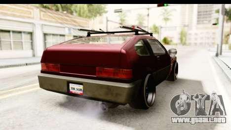 Blistac Tio Sam para GTA San Andreas vista posterior izquierda