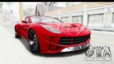 GTA 5 Dewbauchee Seven 70 IVF para la visión correcta GTA San Andreas