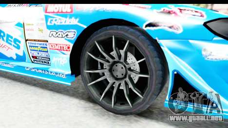 Nissan Silvia S15 D1GP Blue Toyo Tires para GTA San Andreas vista hacia atrás