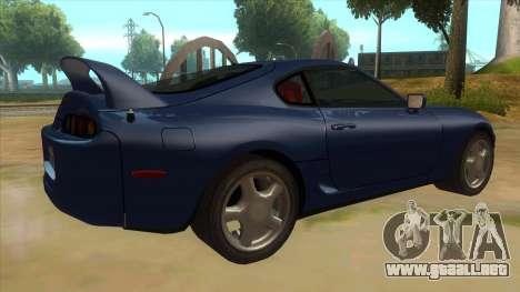 Toyota Supra Tunable para la visión correcta GTA San Andreas