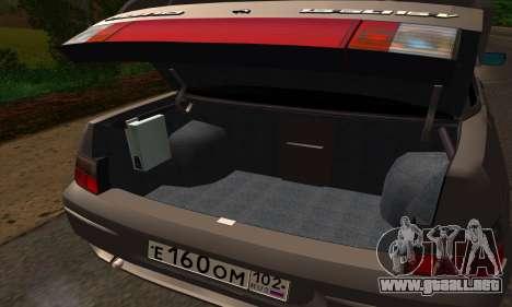 VAZ 2110 para visión interna GTA San Andreas