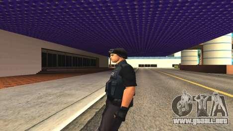 Original SWAT de la piel sin máscara para GTA San Andreas sucesivamente de pantalla