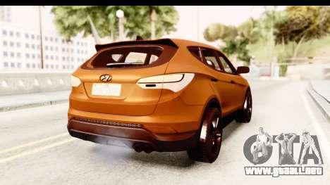 Hyundai Santa Fe 2015 para la visión correcta GTA San Andreas