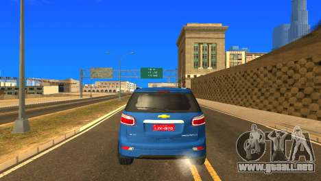 Chevrolet TrailBlazer 2015 LTZ para vista lateral GTA San Andreas
