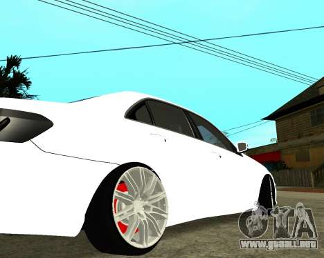 Mercedes-Benz E250 Armenian para la vista superior GTA San Andreas