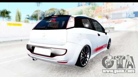 Fiat Punto Abarth para GTA San Andreas vista posterior izquierda