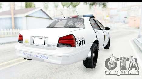 Sri Lanka Police Car v3 para la visión correcta GTA San Andreas