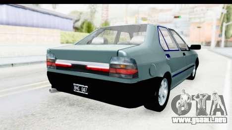 Renault 19 RE para GTA San Andreas vista posterior izquierda