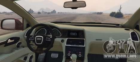 GTA 5 Audi Q7 AS7 ABT 2009 vista lateral izquierda trasera