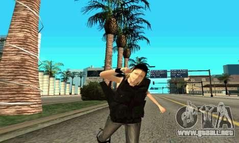 Hembra entrenador de SWAT para GTA San Andreas octavo de pantalla