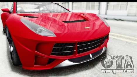 GTA 5 Dewbauchee Seven 70 IVF para la vista superior GTA San Andreas