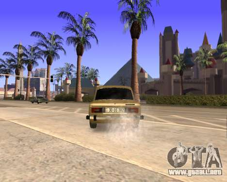 VAZ 2106 Armenian para vista inferior GTA San Andreas