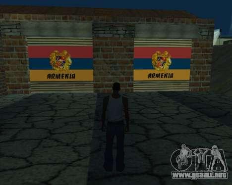 Garaje nuevo Armenia para GTA San Andreas