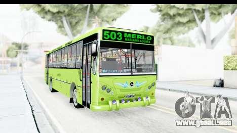 Bus La Favorita Ecotrans para GTA San Andreas vista posterior izquierda