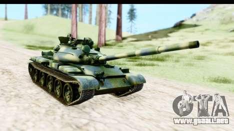T-62 Wood Camo v3 para la visión correcta GTA San Andreas