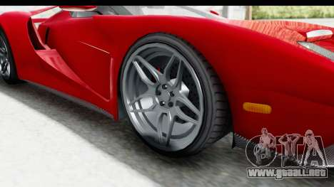 GTA 5 Vapid Bullet Face FMJ para GTA San Andreas vista hacia atrás