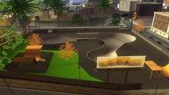 Nuevas texturas de un skate Park y hospital