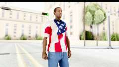 T-Shirt USA Flag para GTA San Andreas