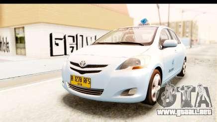 Toyota Vios 2008 Taxi Blue Bird para GTA San Andreas