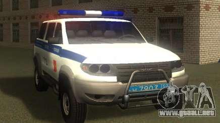UAZ Patriot de la Policía v1 para GTA San Andreas
