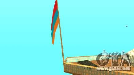 Armenian Flag On Mount Chiliad V-2.0 para GTA San Andreas