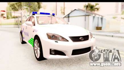 Lexus IS F PDRM para GTA San Andreas