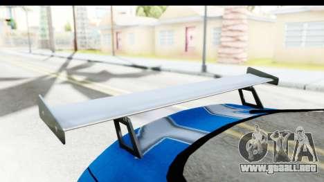 NFS: Carbon Darius Toyota Supra Updated para visión interna GTA San Andreas
