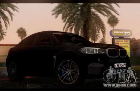 BMW X6M BULKIN ED. para GTA San Andreas vista posterior izquierda
