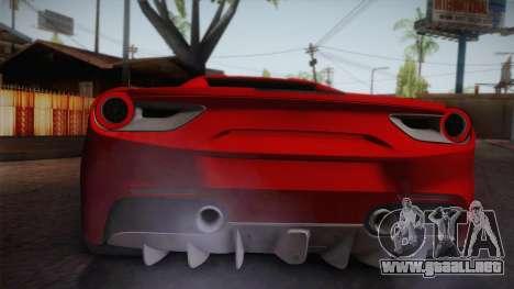 Ferrari 488 Spider para la visión correcta GTA San Andreas