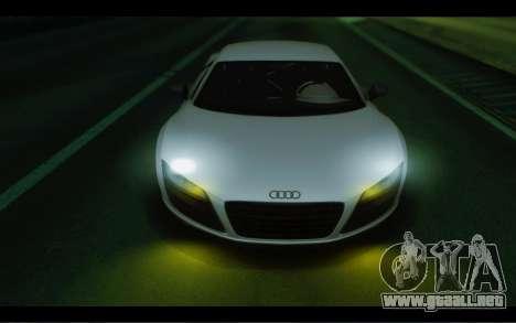 Audi R8 GT Sport 2012 para GTA San Andreas vista hacia atrás