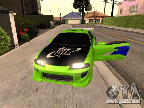Mitsubishi Eclipse The Fast and the Furious para GTA San Andreas