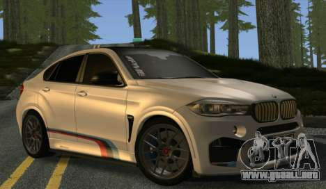 BMW X6M PML ED para GTA San Andreas vista hacia atrás
