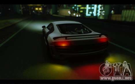 Audi R8 GT Sport 2012 para visión interna GTA San Andreas