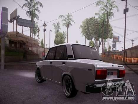 VAZ 2107 Tipo-stance para GTA San Andreas vista posterior izquierda