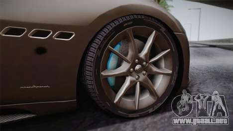 Maserati Gran Turismo Sport para GTA San Andreas vista hacia atrás
