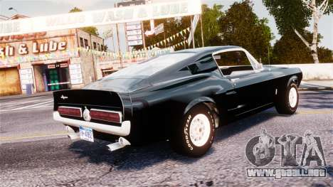 Ford Mustang Shelby GT500 1967 para GTA 4 left
