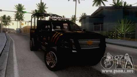 Chevrolet Silverado de la Fuerza Coahuila para la visión correcta GTA San Andreas