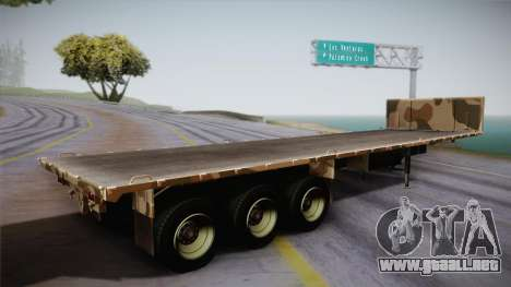 GTA 5 Army Flat Trailer IVF para GTA San Andreas left